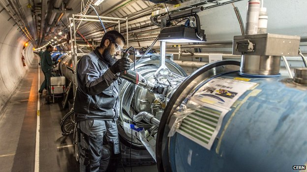 The Large Hadron Collider at CERN is undergoing an upgrade to enable it to utilize energies twice as powerful as those used to reveal the Higgs Boson