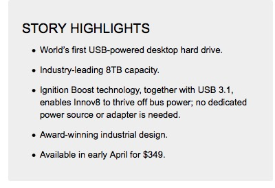 Seagate Innov8 Story Highlghts
