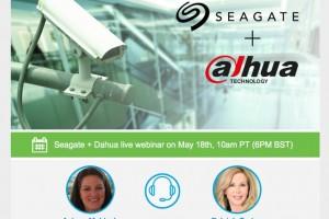 Seagate + Dahua live webinar on May 18th, 10am PT