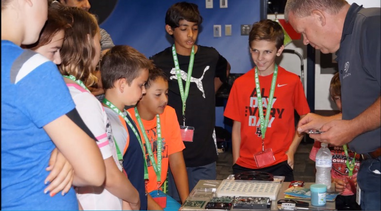 Students learn how digital data storage plays a role in space missions