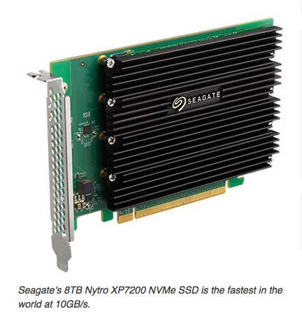 Seagate's 8TB Nytro XP7200 NVMe SSD is the fastest in the world at 10GB/s.