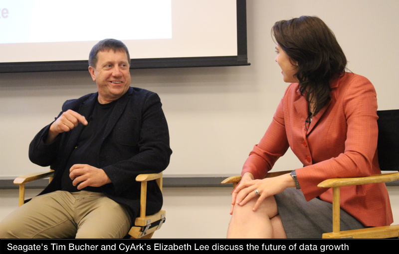 Seagate's Tim Bucher and CyArk's Elizabeth Lee discuss data growth at Microsoft's Silicon Valley campus