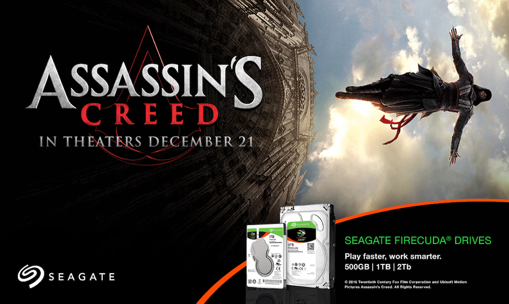 Assassin's Creed and Seagate FireCuda drives