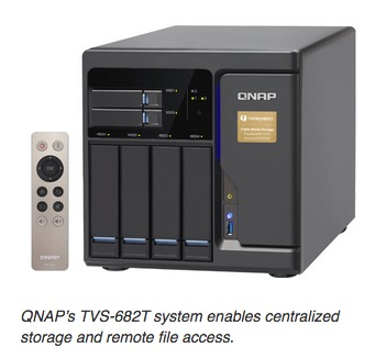 QNAP's TVS-682T system enables centralized storage and remote file access