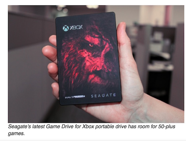 Seagate's latest Game Drive for Xbox portable drive has room