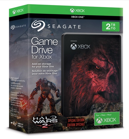 Seagate Game Drive for Xbox Gears of War 4 Edition Archives