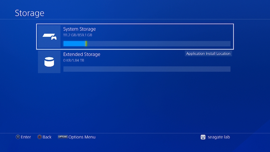 8) Once the formatting is complete the drive will now show up under Settings>Storage as Extended Storage
