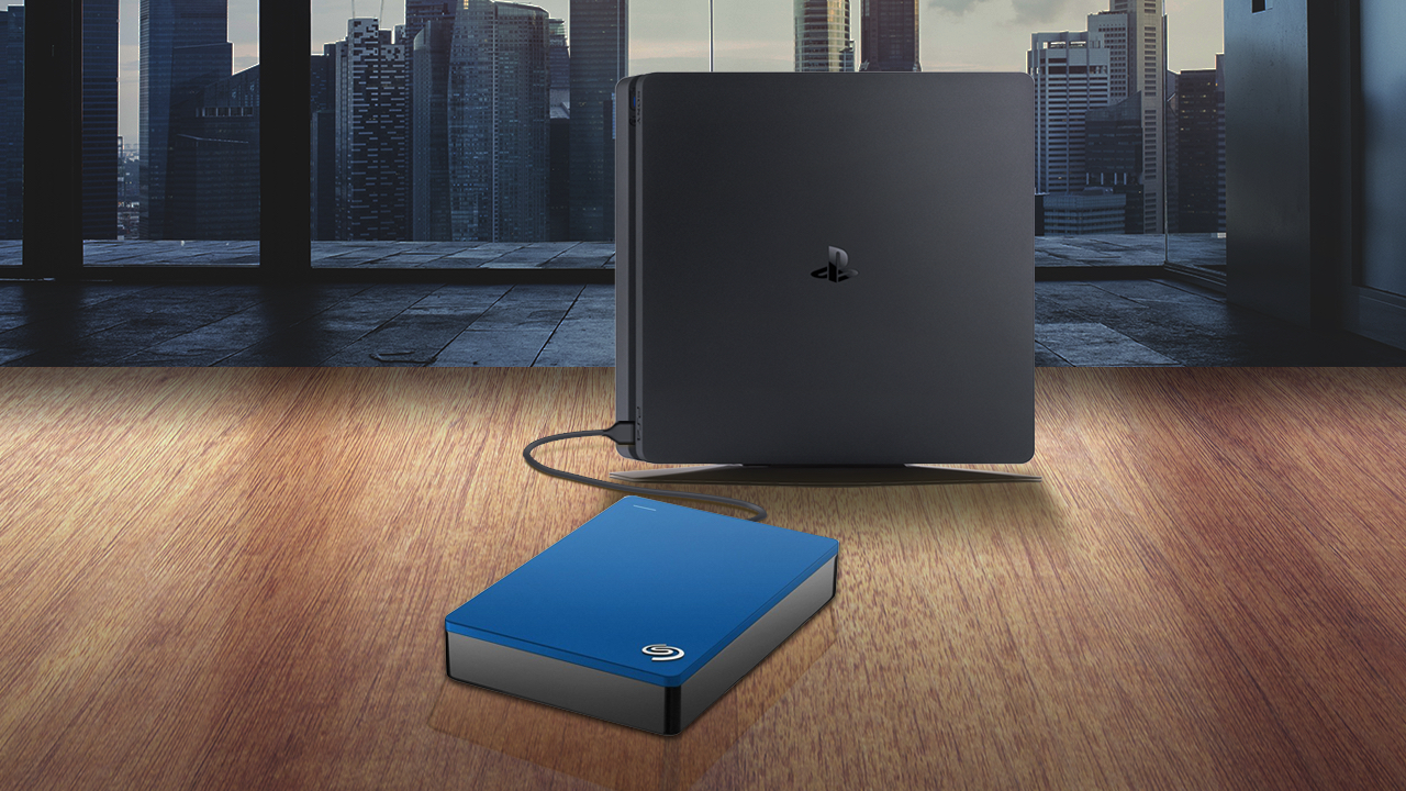 PS4 with Seagate Backup Plus external hard drive
