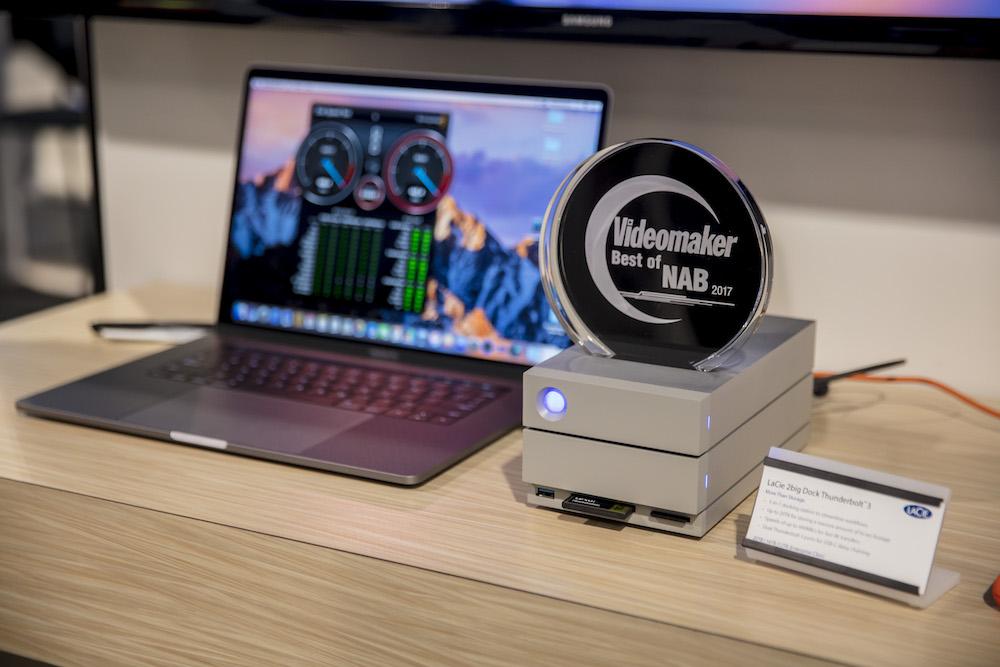 LaCie 2big Dock won a Videomaker Best of NAB 2017 award