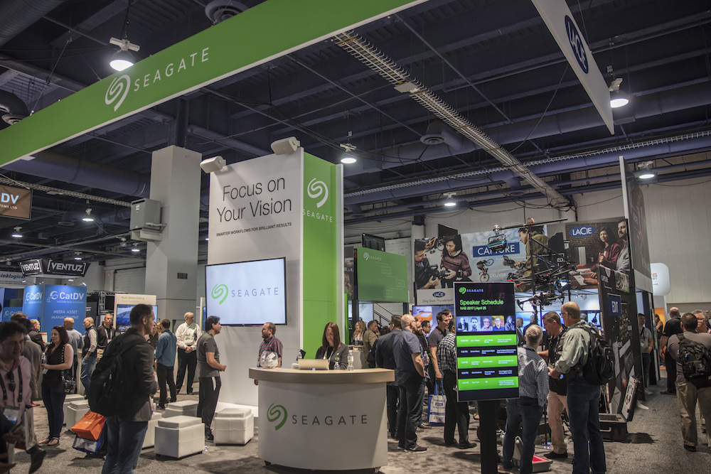 NAB 2017 — the Seagate and LaCie booth