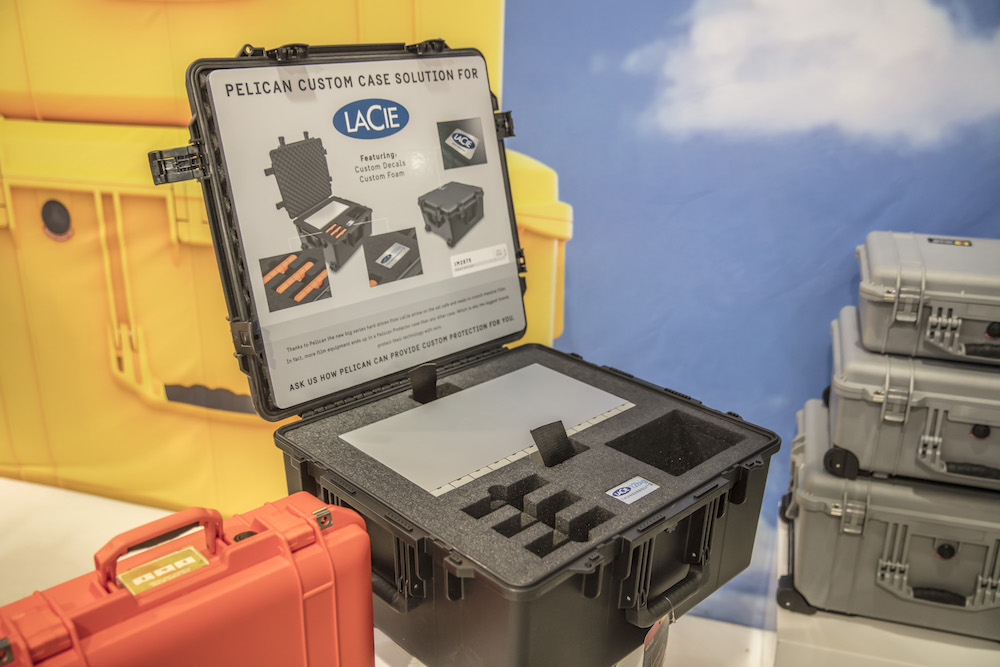Pelican shows off their custom cases for LaCie drives