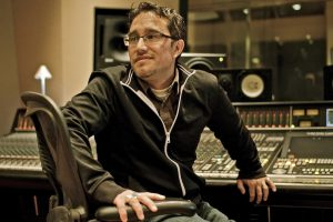 PC Munoz at mixing board - photo by Alexander Winter