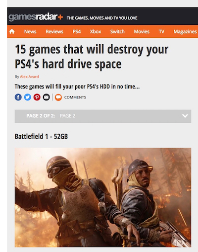 15 games that will destroy your PS4's hard drive space