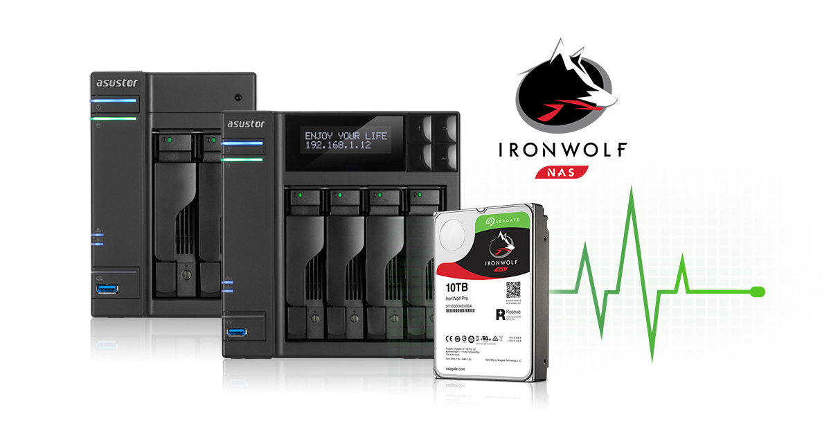 ASUSTOR NAS with Seagate IronWolf Health Management
