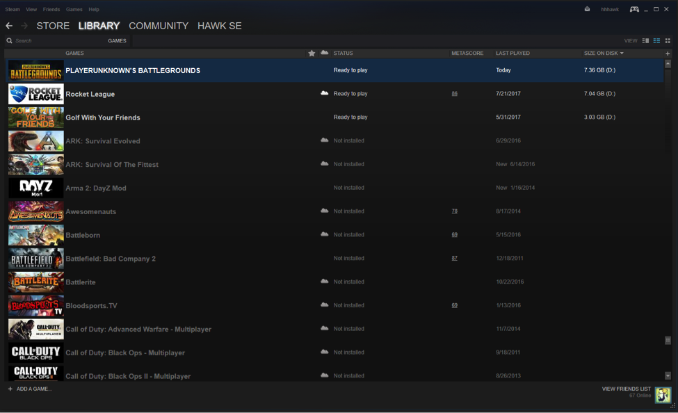 How to view your Steam games Detail view