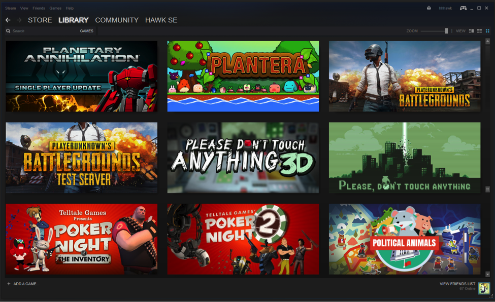 How to view your Steam games Grid view