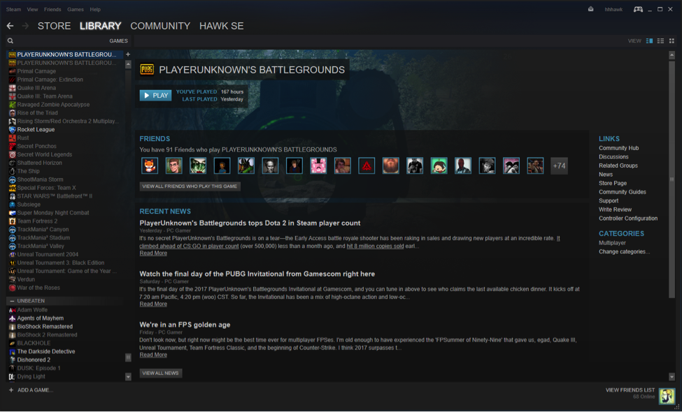 How to view your Steam games List view