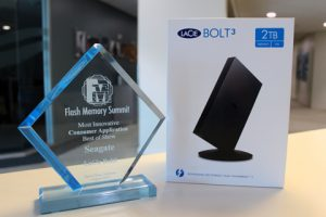 "LaCie Bolt3 Named ""Most Innovative Flash Memory Consumer Application"" at Flash Memory Summit"