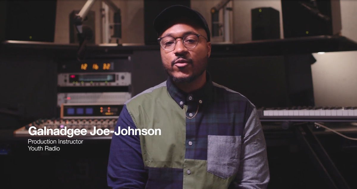 Galnadgee Joe-Johnson, production instructor for Youth Radio