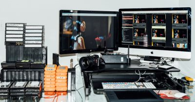 Michael Rubenstein film and image editing work station