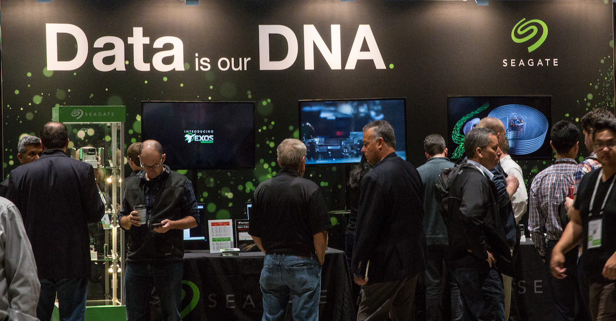 Data is our DNA — the Seagate booth at OCP 2018