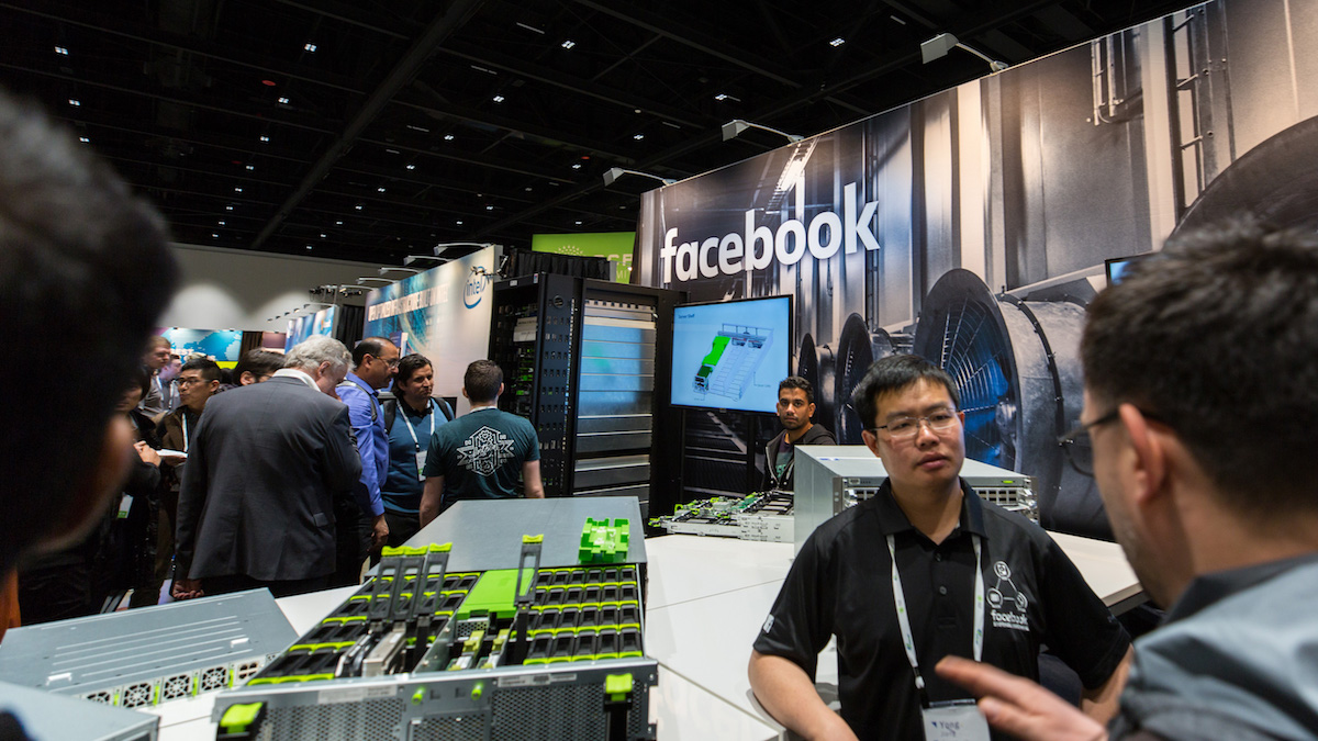 Facebook racks filled with Seagate Exos drives OCP 2018