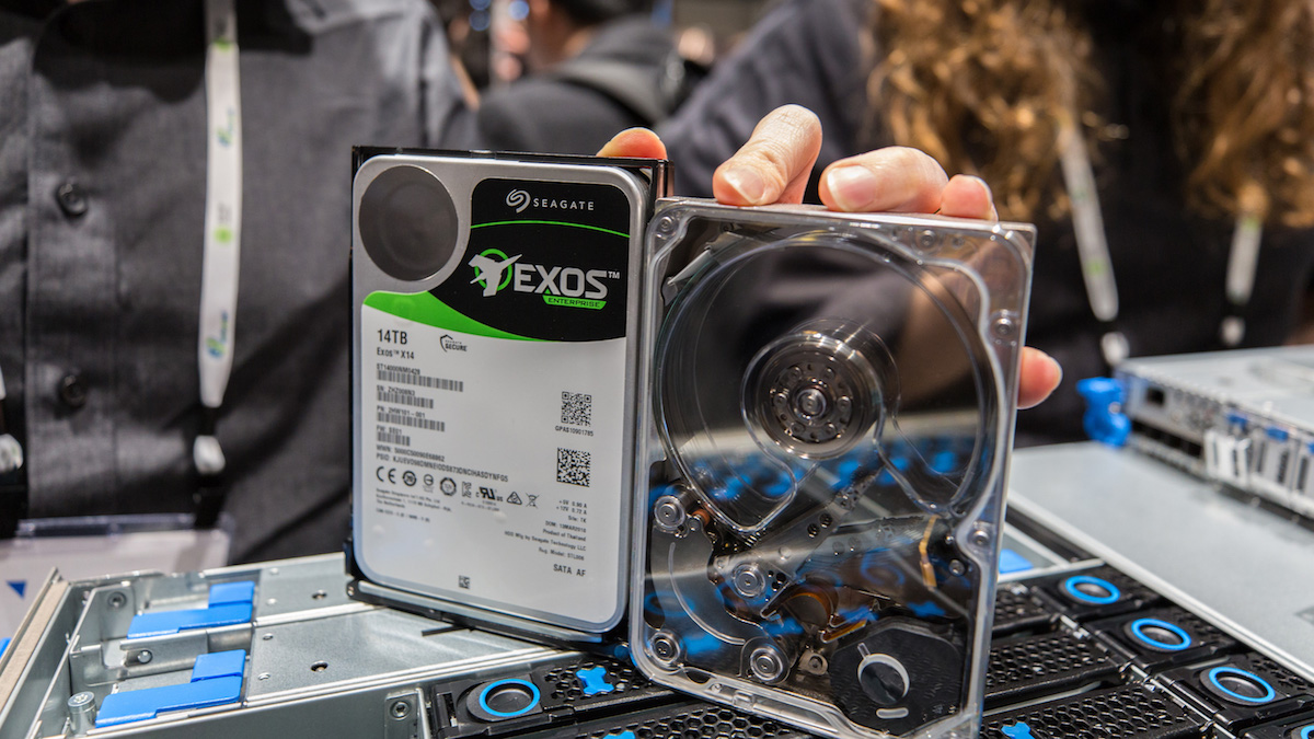 Seagate Exos X14 and MACH.2 Multi Actuator sample at Microsoft's booth OCP 2018