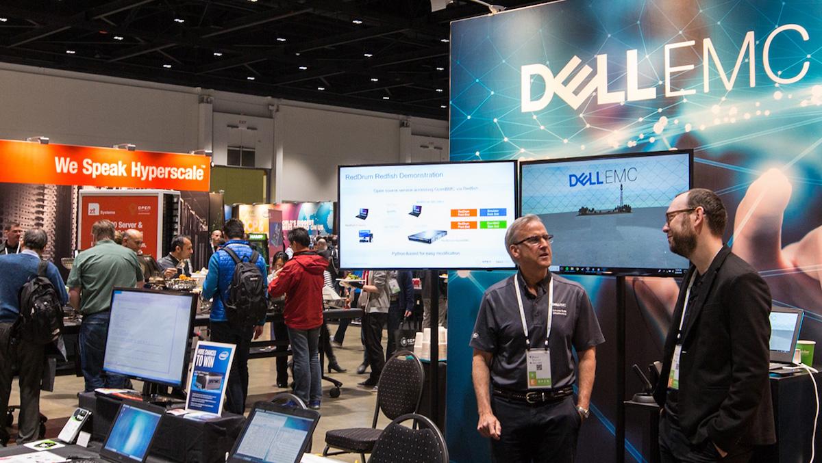 Seagate Exos X14 en el stand de DellEMC OCP 2018