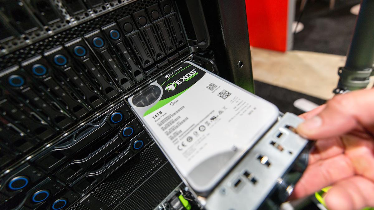 Seagate Exos X14 en el stand de QCT OCP 2018