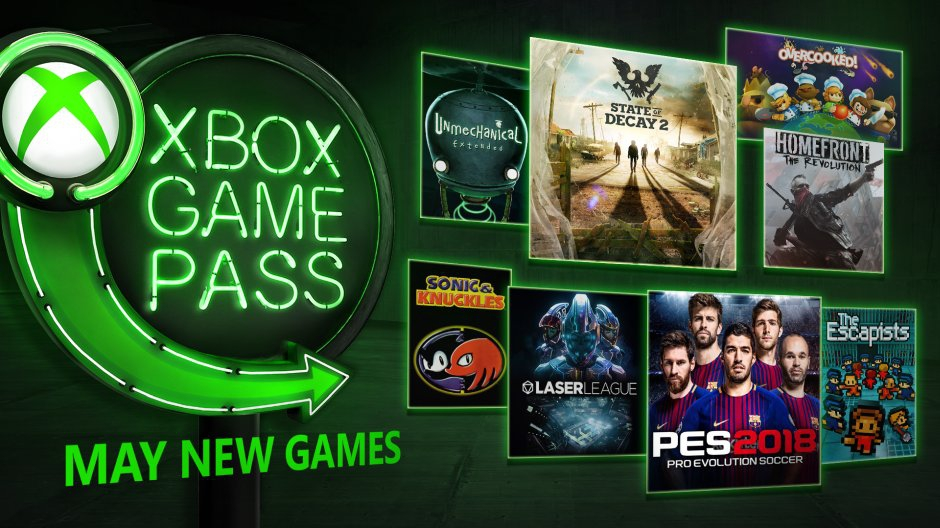 Xbox Game Pass May 2018 New Titles