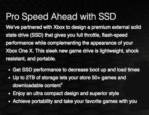 Pro Speed Ahead with SSD for Your Xbox One X