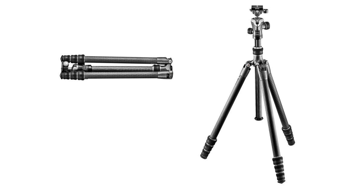 Gitzo GT1545T Series 1 Carbon Fiber Tripod folded and set up