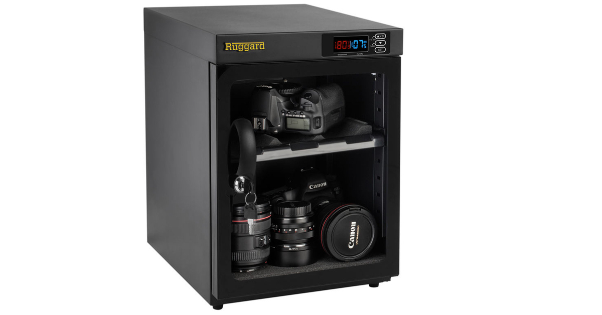 Ruggard electronic dry cabinet protects your photography gear