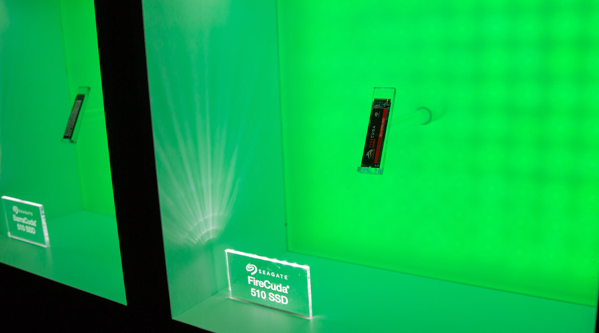 Seagate FireCuda 510 SSD display at CES 2019