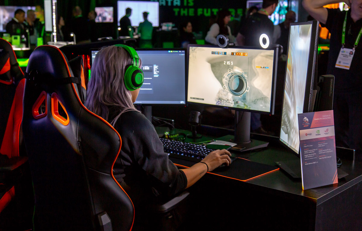 Gamer in action at Seagate Experience Zone CES 2019