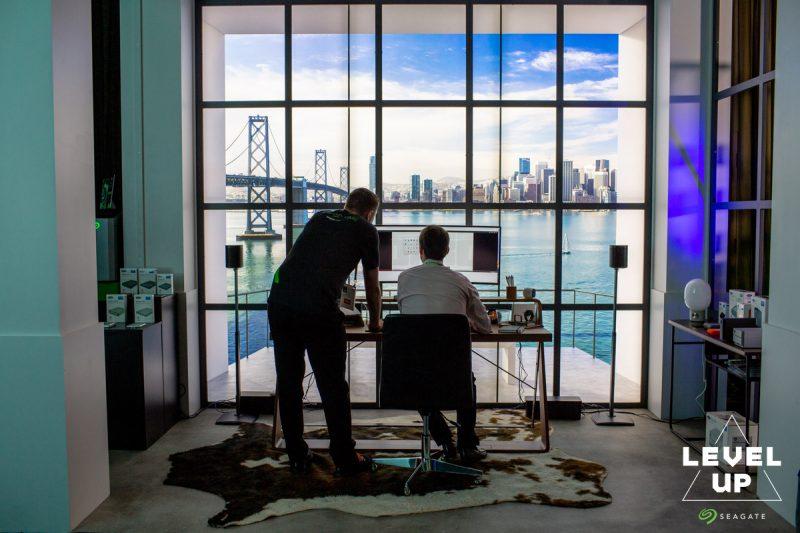 LaCie Dream Desk at Seagate Experience Zone CES 2019