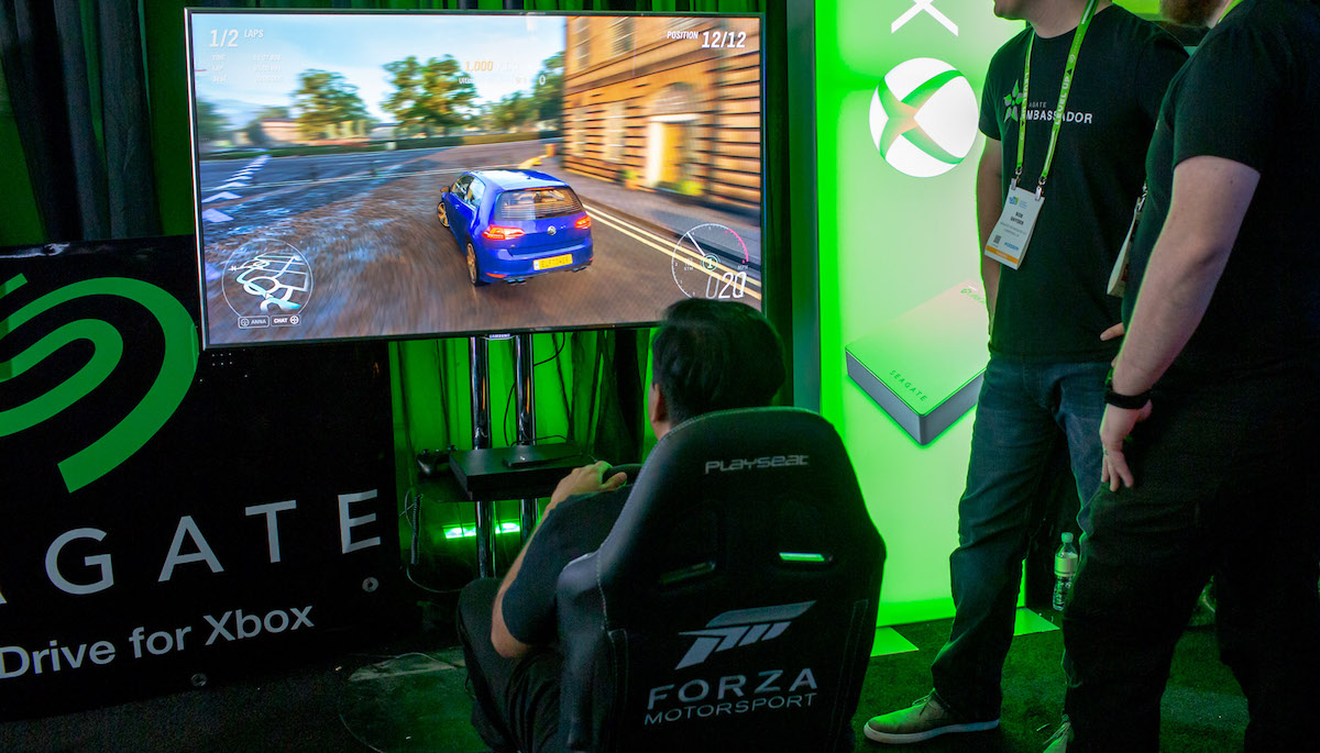 Xbox Forza demo at Seagate Experience Zone CES 2019