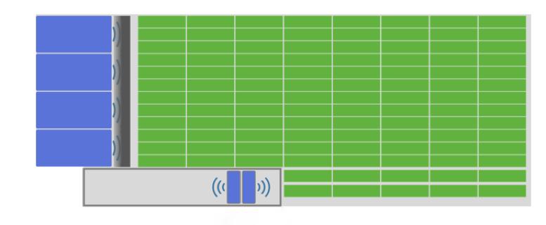 4U106 acoustic baffle blocks air coupling