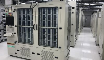 Test ovens in a Seagate reliability lab