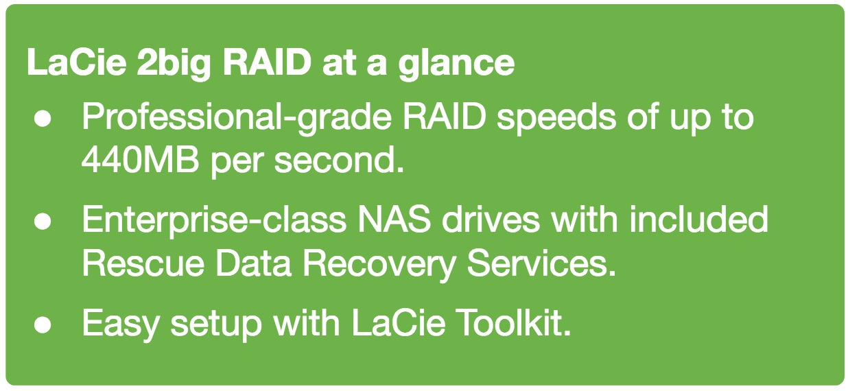 LaCie 2big RAID at a glance - Seagate
