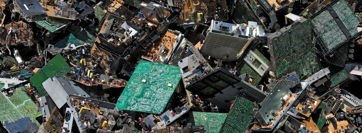 The amount of e-waste that the world generates