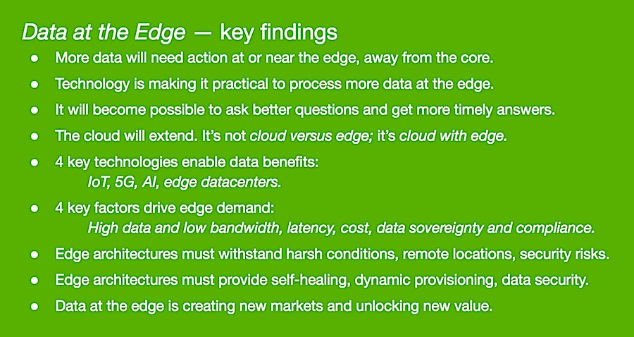 Data at the Edge key findings