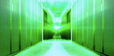 futuristic modern server room in the data center