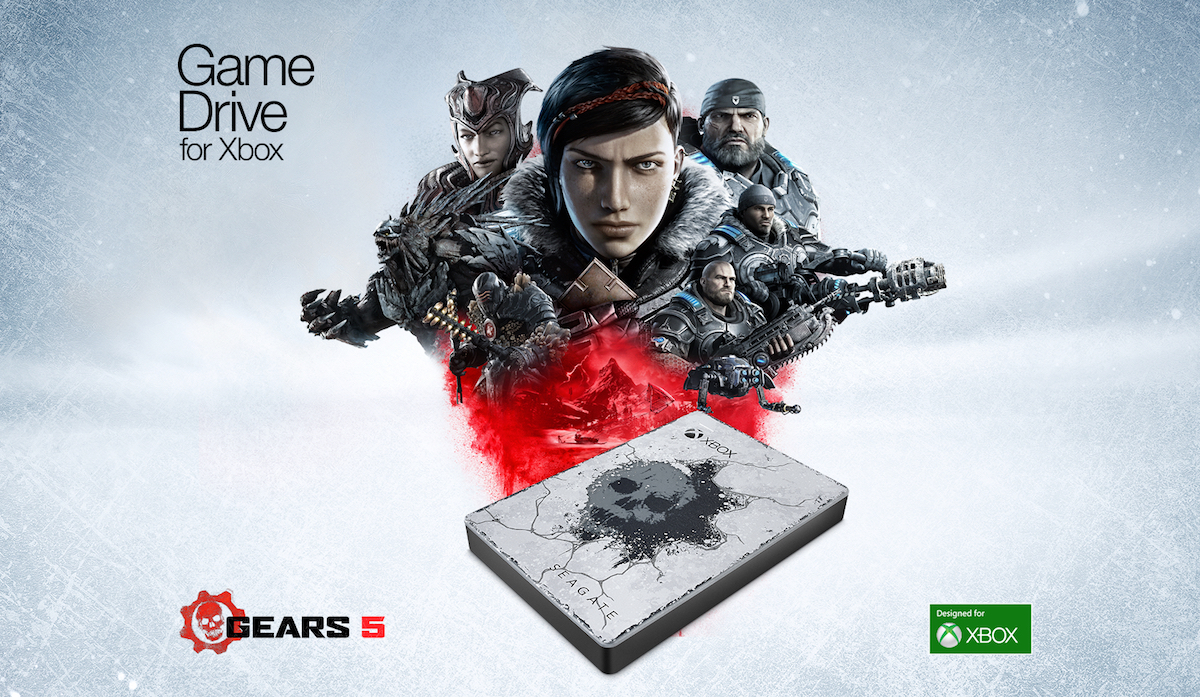 Microsoft Unveils Gears-Themed Xbox One X and Seagate Game Drive for Xbox Special Edition