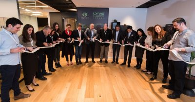 Ribbon-cutting ceremony to officially open the Lyve Labs Innovation Center